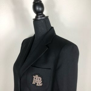 Ralph Lauren | Classic Black Blazer with LRL Logo
